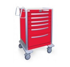 Aluminium Resuscitation Carts | Waterloo UTRLA-333369-RED