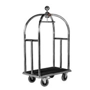 5 Star Stainless Steel Bellboy Luggage Trolley | Wagen