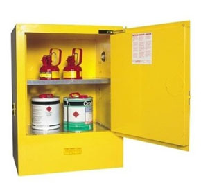 60L Yellow Flammable Storage Cabinet | AU25712