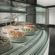 Curved Glass Cake Display Cabinets | Orion KT24