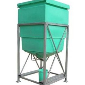 1500 Ltr Centre Discharge Hopper & Mini Silo | JB1500MS