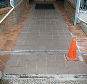 Floor Tuff anti slip coating rejuvenates residential complex entrance