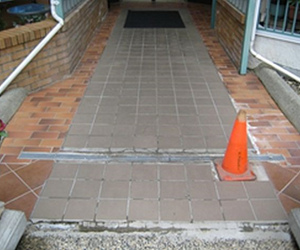 Panorama Terrace tiled entrance before
