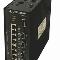 Managed 8 Port PoE+ 10/100BaseT Industrial Ethernet Switch