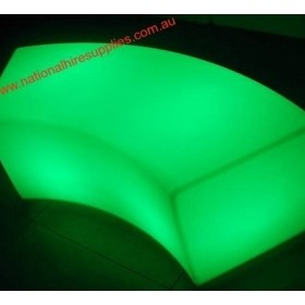 Illuminated Curved Bench Seat | Illuminated Curved Bench Seat