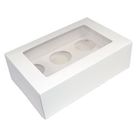 Cupcake & Muffin Boxes | CCB255-170-080WH