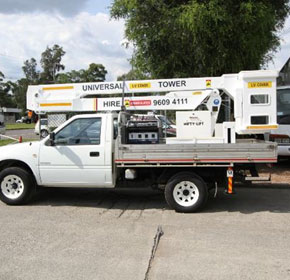 Cherry Picker Hire on Utes