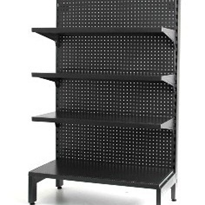 Single Sided Gondola Shelving | Hammertone