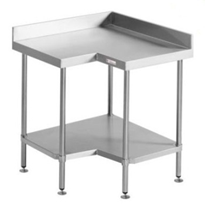 Corner Bench with Splashback | Simply Stainless SS04.0900