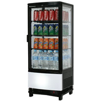 100L Curved Glass Countertop Beverage Chiller | CT0100G4BC