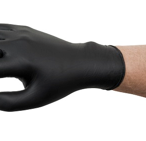 Distinct Black Nitrile Exam Gloves | Microflex 93-852