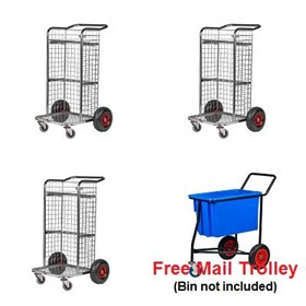 Flat Free Office Trolley Package | Wagen