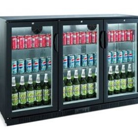 Back Bar 330L Glass Door Chillers | BB0330GD