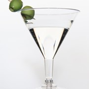 Romax Plastic Cocktail Glass - Martini - 220ml - CO60