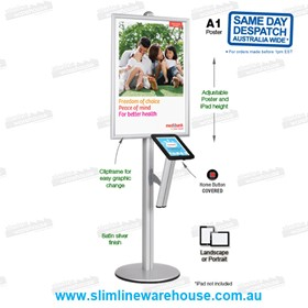 iPad Stand Poster Holders with Poster Frames