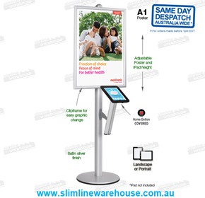 iPad Stand Poster Holders with Poster Frames | Slimline Warehouse