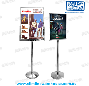 A4, A3, A2 & A1 Steel Poster Stand Holders | Slimline Warehouse