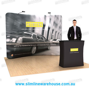 Portable Exhibition Display Backdrops/Backgrounds - Slimline Warehouse
