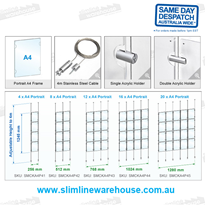 Real Estate/Retail Hanging Window Poster Holders | Slimline Warehouse