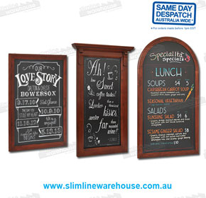 Restaurant Menu & Specials Chalk Black Boards | Slimline Warehouse