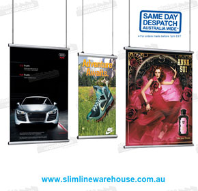 Hanging Poster Print Rail Holders | Slimline Warehouse