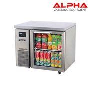 Undercounter Glass Door Refrigerator | Alpha Catering