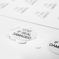Eggshell Security Labels | B-Sealed