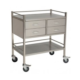 Stainless Steel 4 Drawer Dressing Trolley | ASS-801