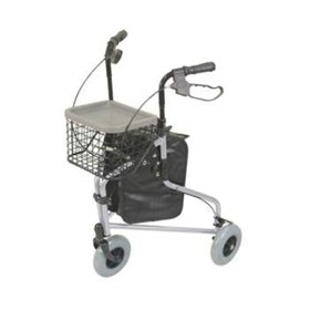 Silver Deluxe Lightweight Tri-Walker with Bag & Basket | VP172AC