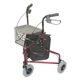 Red Deluxe Lightweight Tri Walker with Bag & Basket | VP172AA