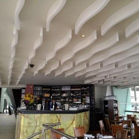 Coloured Acoustic Ceiling Ribbons | Melfoam Acoustics