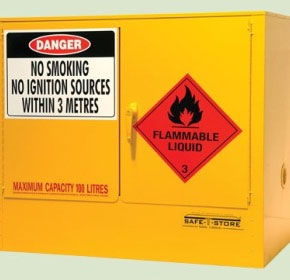 100L Under Bench Flammable Liquid Storage Cabinet | SRSC100