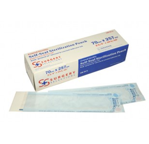 Single Pack of 70mm x 257mm Sterilisation Pouches | MADPAC