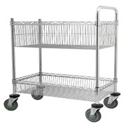 2 Tier Wire Mail Trolley | ST7096