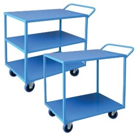 Heavy Duty 2 & 3 Tier Steel Trolleys | MHA