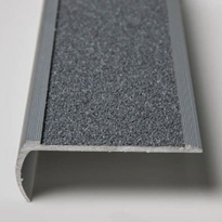 Stair Tread | Grey Bullnose with Anti Slip Carbide