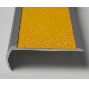 Stair Tread | Yellow Bullnose with Anti Slip Carbide