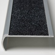 Stair Tread | Black Bullnose with Anti Slip Carbide