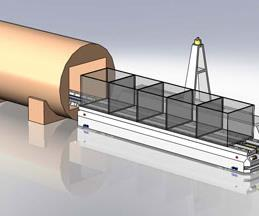 Simulation showing concept of vehicle delivery to retort ovens.