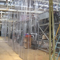 PVC dividing screen reduces risk of caustic burns