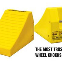 Lightweight mining wheel chocks