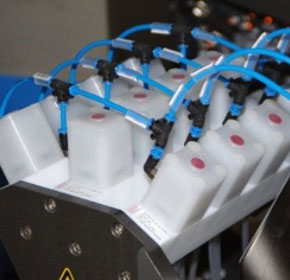 Precise dosing with multi-port valve blocks made of fluoroplastics