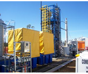 Remote control panel with MultiCELL controlling multiple water chemistry sensors used at a coal seam gas site.
