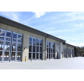 High speed security folding doors