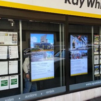LCD window displays for real estate agents and retail shops