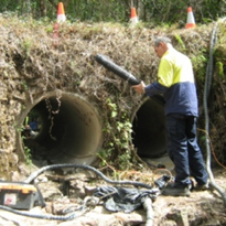 Restoring culverts in a rainforest area