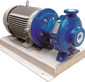 Techniflo's mag-drive pumps are ideal for corrosive chemicals
