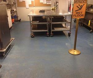Original kitchen epoxy floor