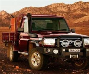 The Toyota LandCruiser 70 Series ute