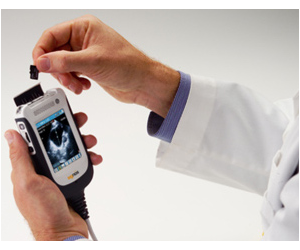 Handheld ultrasound technology is modelled after modern smartphones. (Image: Space Coast Daily)
